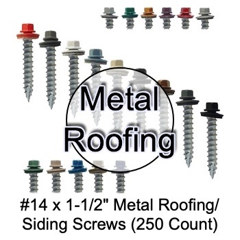250 for Corrugated Roofing Screws x 3 Ivory Hex Head Sheet Metal Roof Screw EPDM Washer #10 Metal Roofing Screws: Self Starting//Tapping Metal to Wood Sheet Metal siding Screws
