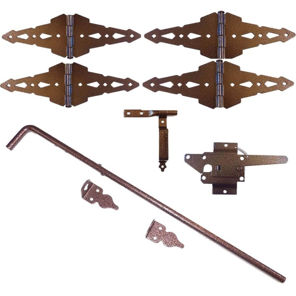 Bronze Finish Wood Double Gate Kit Wood Double Gate Kit